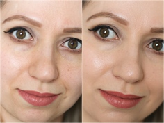 Look lancome teint idole 24h wear foundation before and after