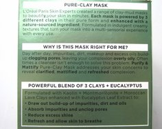 Look l oreal paris pure clay purify and mattify mask claims