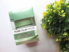 Look l oreal paris pure clay purify and mattify mask packaging